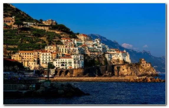 Image Positano Coast Travel Sky Historic Site