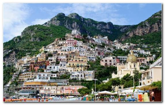 Image Positano Mountain Village Vacation Town City