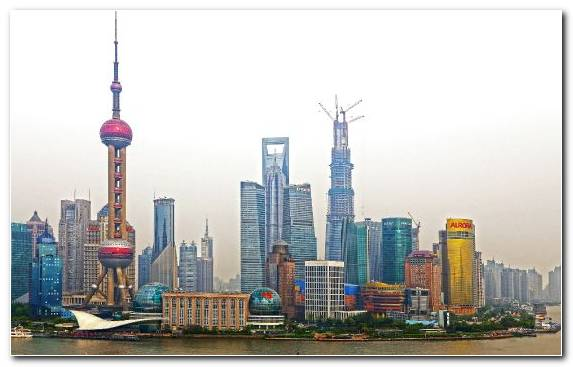 Image Shanghai Metropolis Horizon Urban Area Cityscape