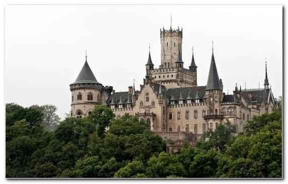 Image Sleeping Beauty Castle sky neuschwanstein castle spire castle