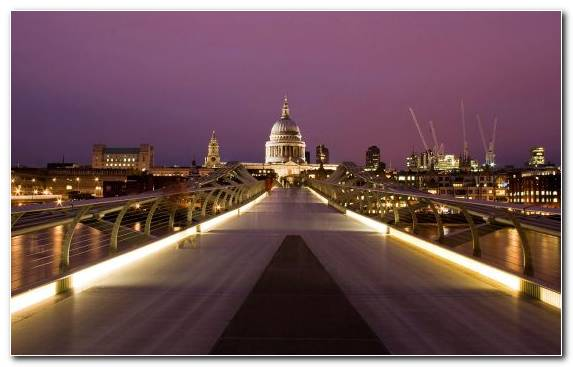 Image St Pauls Cathedral City Metropolis Bridge Reflection
