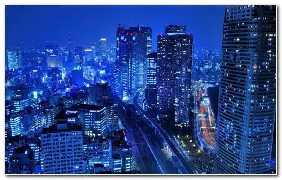 Image Tokyo City skyline night metropolis skyscraper