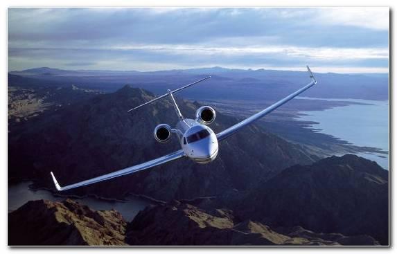 Image Aerospace Engineering Aviation Flight Mountain Range Business Jet