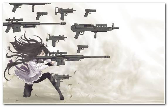 Image Air Gun Sniper Rifle Sayaka Miki Cannon Firearm