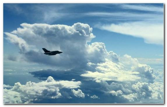 Image Air Travel Fighter Aircraft Day Sky Cumulus