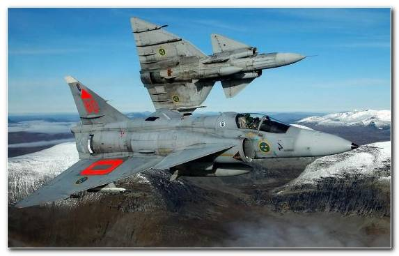Image Aircraft Airplane Saab 37 Viggen Fighter Aircraft Aviation