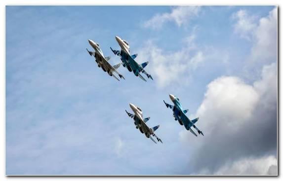 Image Airplane Air Show Sukhoi Fighter Aircraft Aerobatics