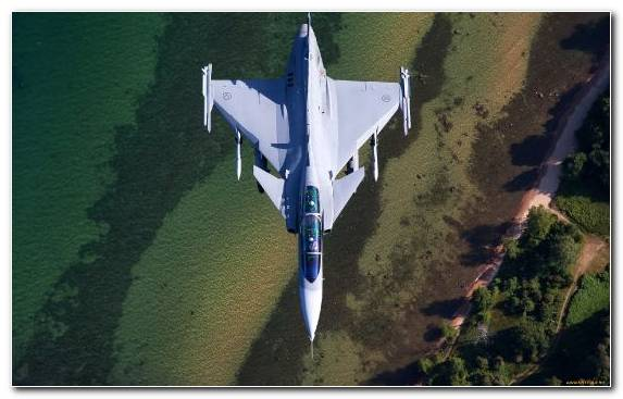 Image Airplane Saab Jas 39 Gripen Water Military Aircraft Aviation