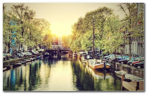 Image Amsterdam Waterway Body Of Water Canal City