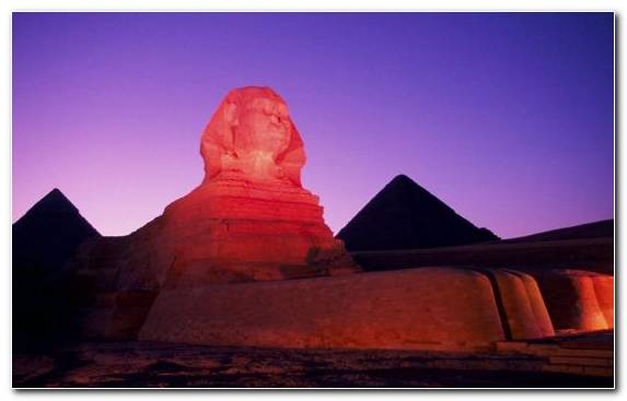 Image Ancient Egypt Sphinx Sky Landscape Sphynx