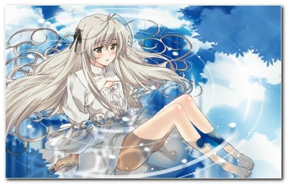 Image Angel Blue Sky Illustration Anime