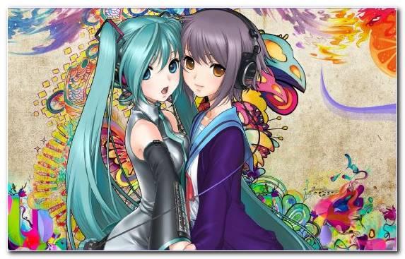 Image Animation Hatsune Miku Vocaloid Illustration Yuki Nagato