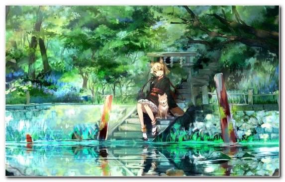 Image Anime Art Tree Music Drawing