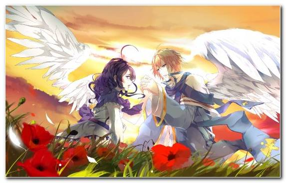 Image Anime Boys Girl Supernatural Creature Angel
