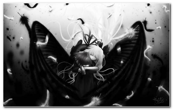 Image Anime Girl Music Monochrome Mode Darkness