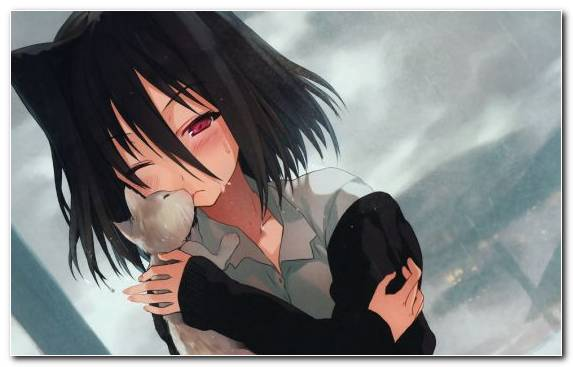 Image Anime Mouth Cool Long Hair Black