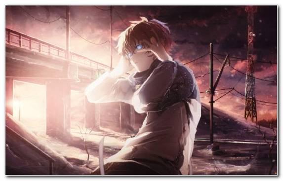 Image Anime Scene Sky Girl Darkness