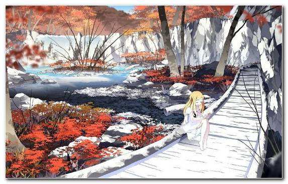 Image Anime Water Winter Girl Creative Arts