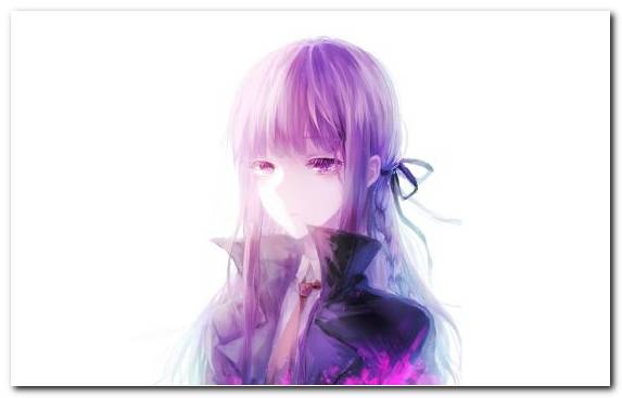 Image Anime Wig Hair Coloring Violet Girl