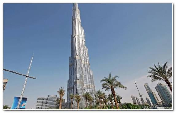 Image Architecture Capital City Tower Block Burj Khalifa Condominium