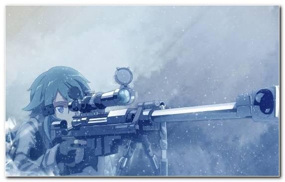 Image Arctic Kirito Gun Ice Sinon