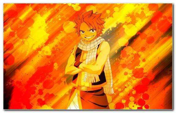 Image Art Anime Erza Scarlet Orange Natsu Dragneel