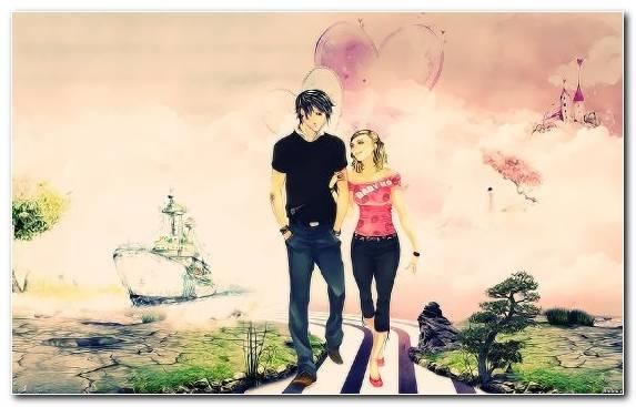 Image Art Cartoon Romance Drawing Love