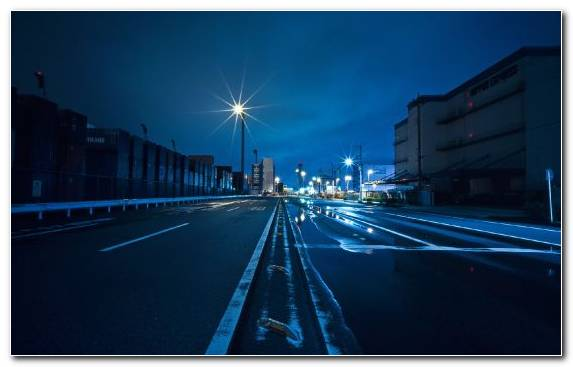 Image Asphalt Road Reflection Street Blue