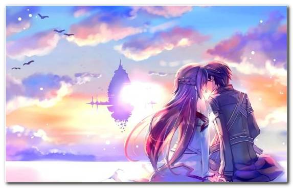Image Asuna Romance Anime Purple Sunlight