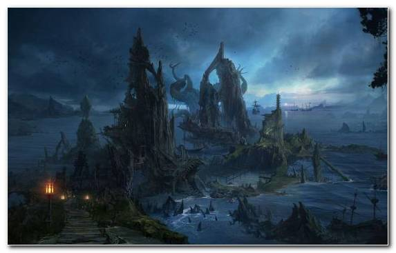 Image Atmosphere Castle Sky Landscape Painting Fantasy