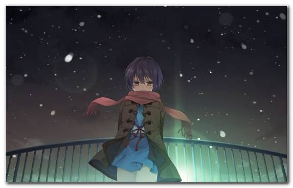 Image Atmosphere Character Sky Yuki Nagato Night