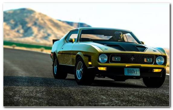 Image Automotive Exterior Classic Car Sportscar Ford Mustang Mach 1 Muscle Car