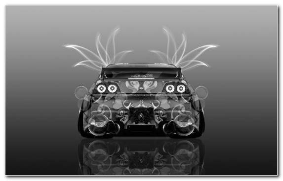 Image Automotive Lighting Black And White Gt R Car Nissan Gt R