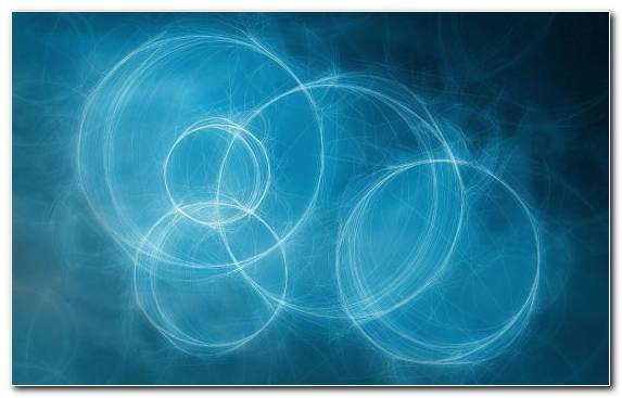 Image Azure Fractal Art Blue Circle Line