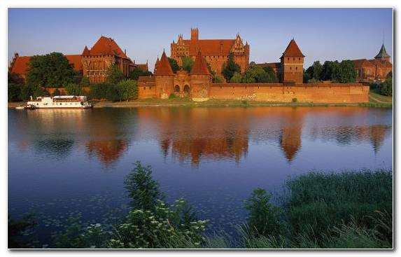 Image Bank Nature Water Castle Historic Site Malbork Castle