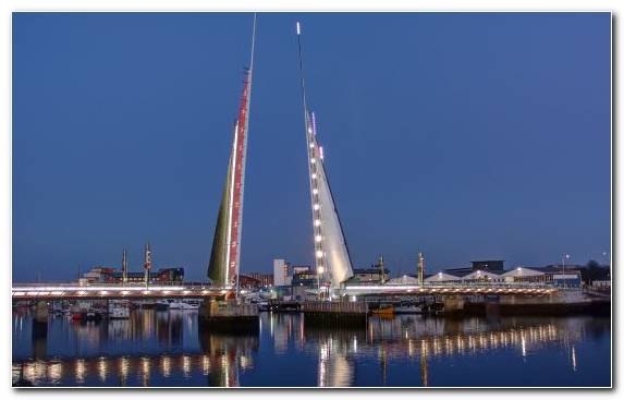 Image Bascule Bridge Sky Ship Horizon Bridge