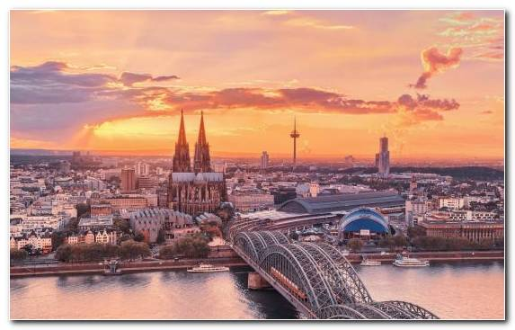 Image Berlin Skyline Cologne Cathedral Sunset Capital City