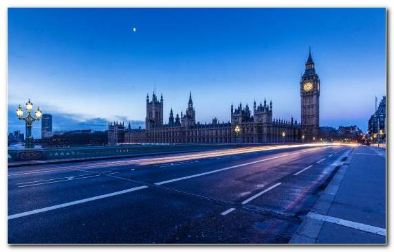 Image Big Ben Landmark Palace Of Westminster Horizon Road