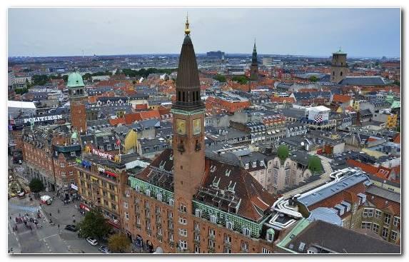 Image Birds Eye View City Metropolis Tower Capital City