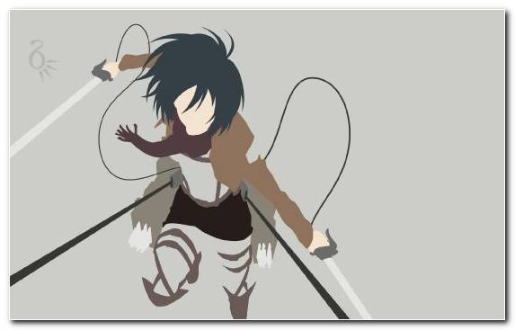 Image Black Illustration Eren Yeager Mikasa Ackerman Cartoon