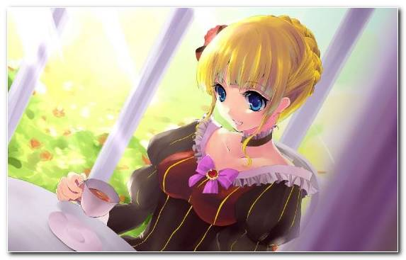 Image Blond Pinkie Umineko When They Cry Pink Eva Beatrice