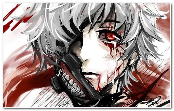 Image Blood Tokyo Ghoul Anime Unravel Illustration