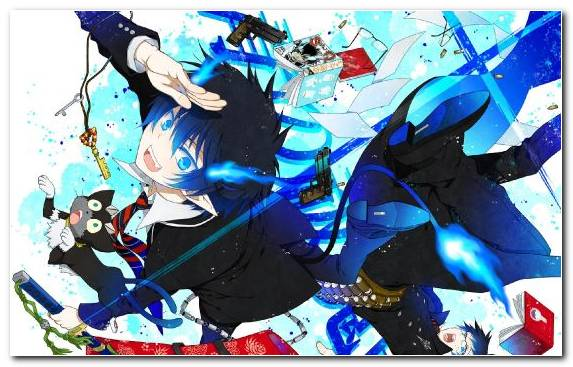 Image blue exorcist creative arts fiction illustration art