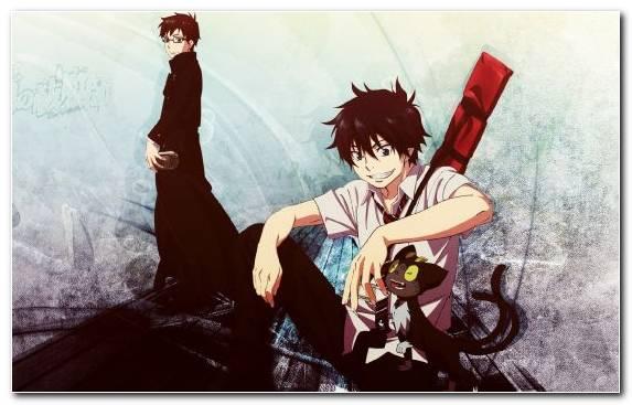 Image Blue Exorcist Fictional Character Rin Okumura Anime Yukio Okumura