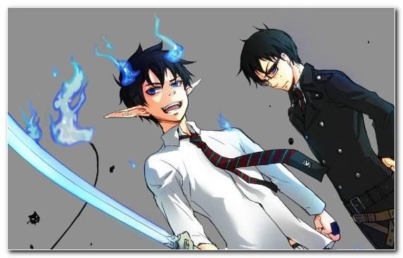 Image Blue Exorcist Rin Okumura Anime Fictional Character Yukio Okumura