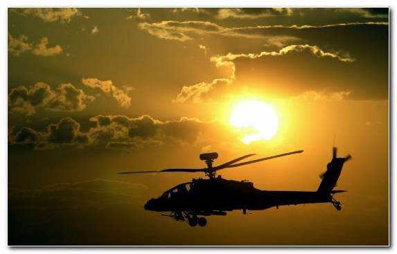 Image Boeing Ah 64 Apache Sky Sunset Royal Air Force Military Helicopter