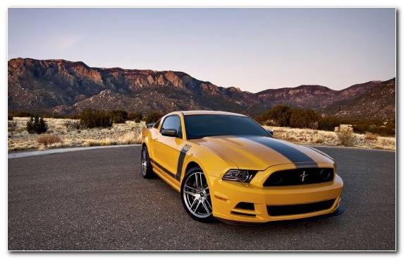 Image Boss 429 Yellow Shelby Mustang Car Ford Gt