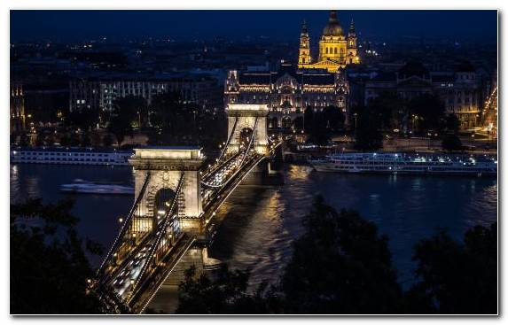 Image Bridge City Hungarian Parliament Building Body Of Water Urban Area