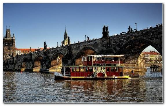 Image Bridge River Waterway City Charles Bridge