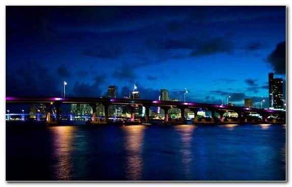 Image Bridge Skyline Landmark Body Of Water City
